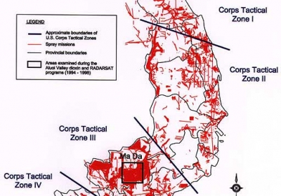 Aerial Spray Missions in South Vietnam 1965 - 1971 Source: U.S. Department of the Army